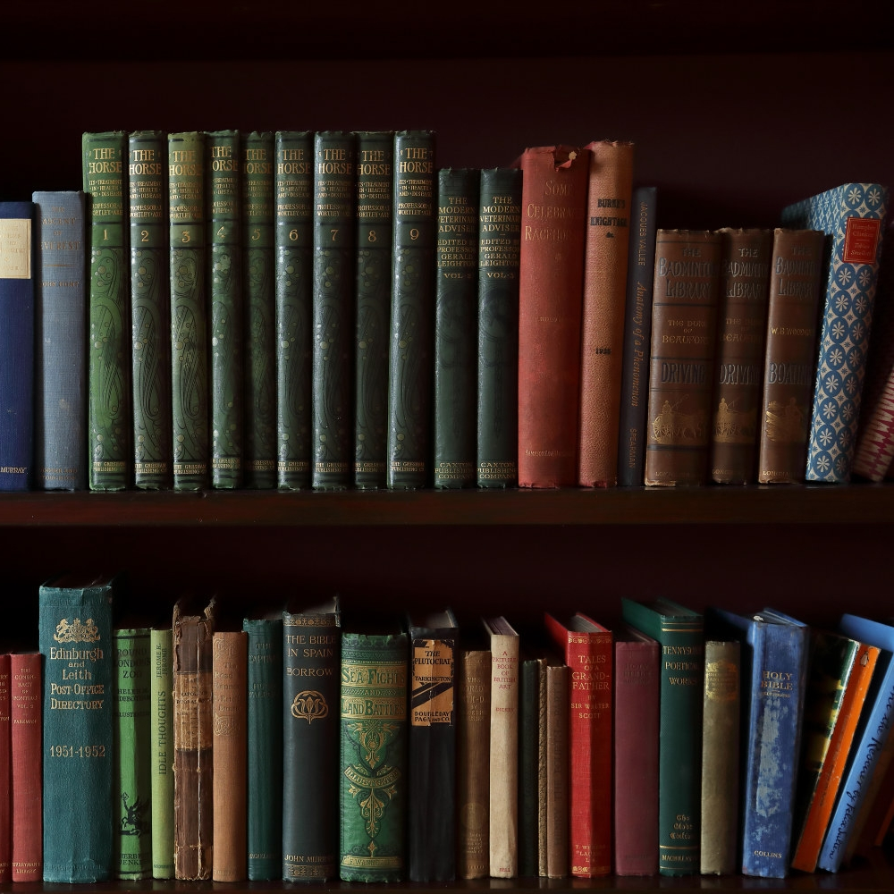 Library - An intimate cosy room where you can enjoy some alone time, the library has shelves stocked full of interesting books and old photo albums that will transport you back in time to when Balnakeilly House was a much-loved family home.