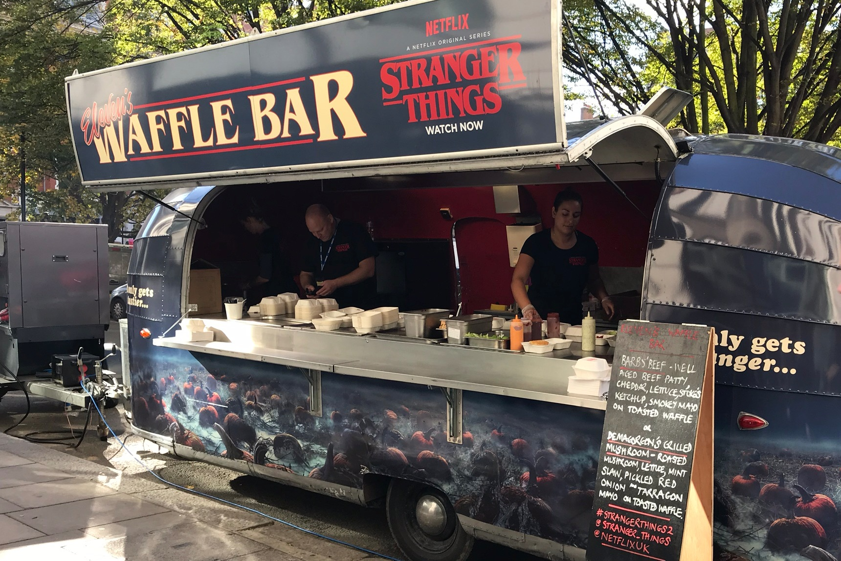 themed & branded food truck treats - NETFLIX - STRANGER THINGS 2