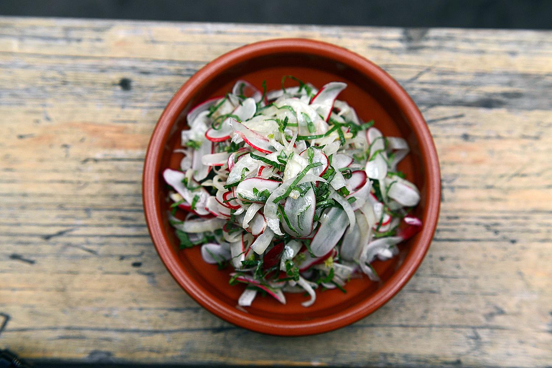 Sliced fennel and radish salad with basil, mint and rosemary vinaigrette.jpg