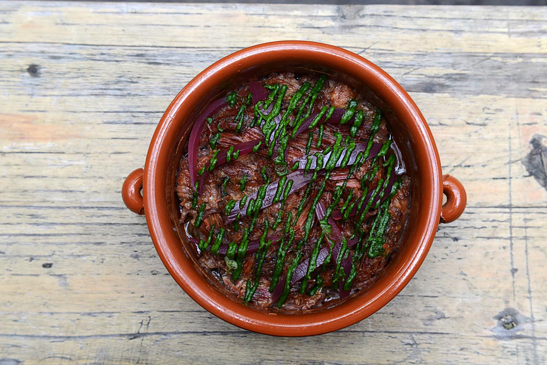 Slow roast lamb, pesto, pickled red onions.jpg