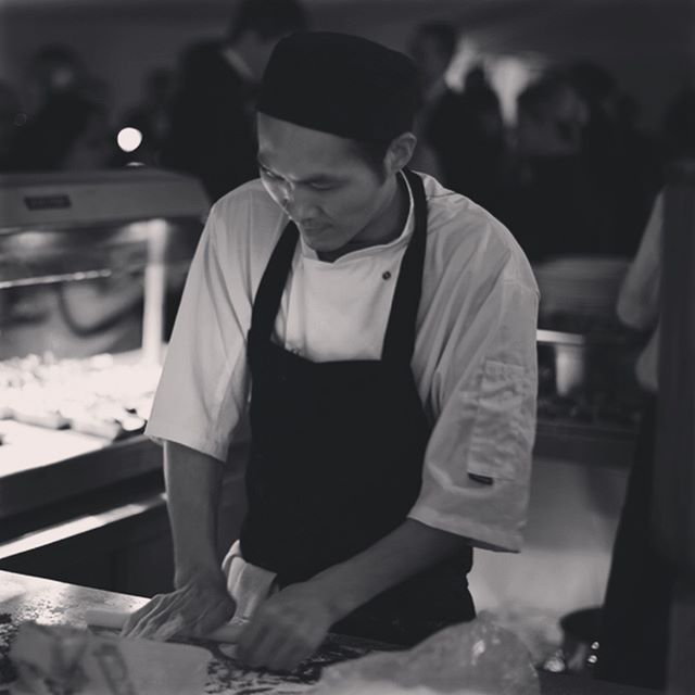 There is nothing quite like watching our amazing Chef Tung wrapping dumplings.......here he is making prawn and chive dumplings on one of our live cooking stations......he is incredible. #dimsum #events #eventdesign #eventplanner #eventplanning #livecooking #livecookingstation #hargau #dumpling