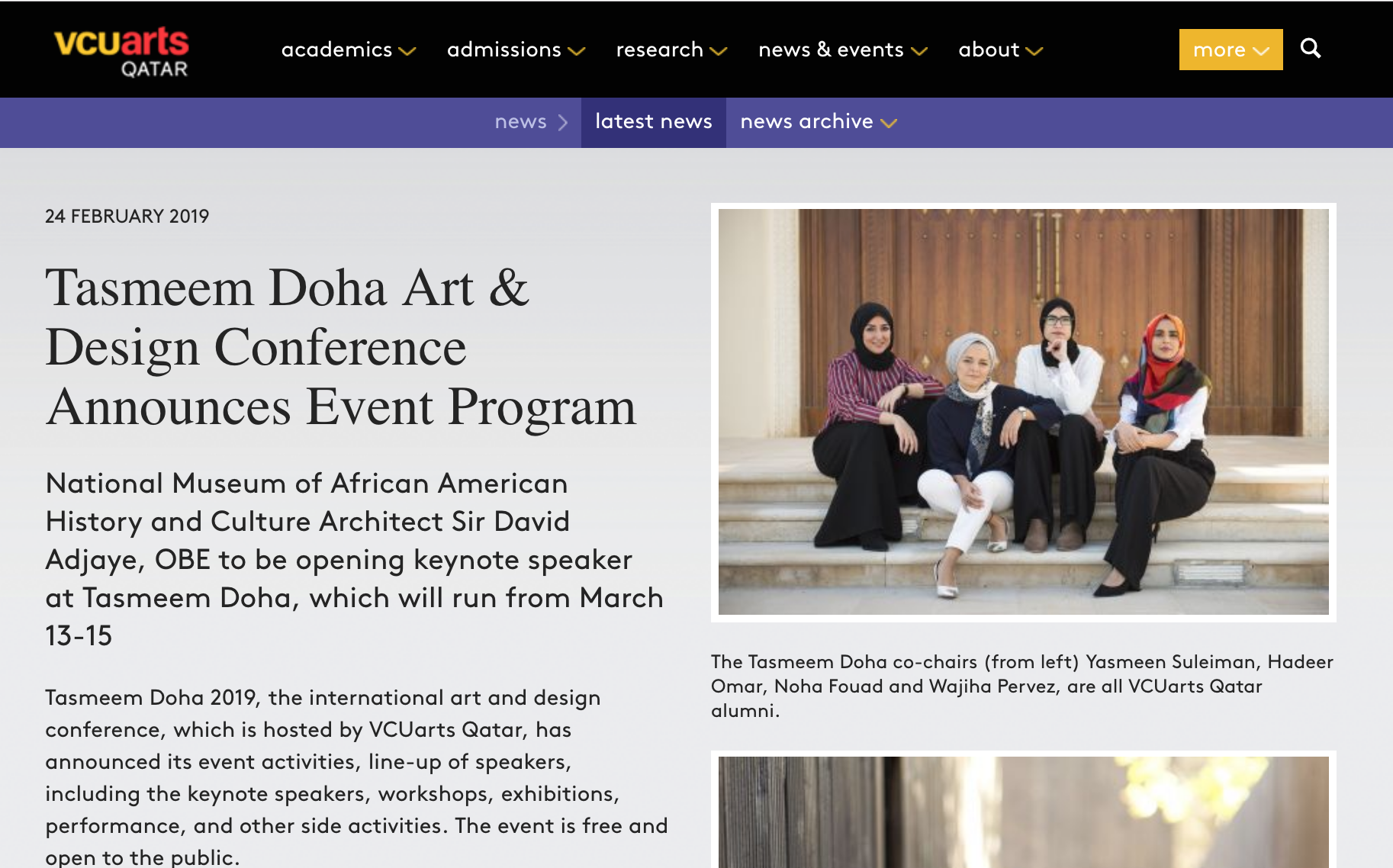 VCUarts Qatar, Feb 2019