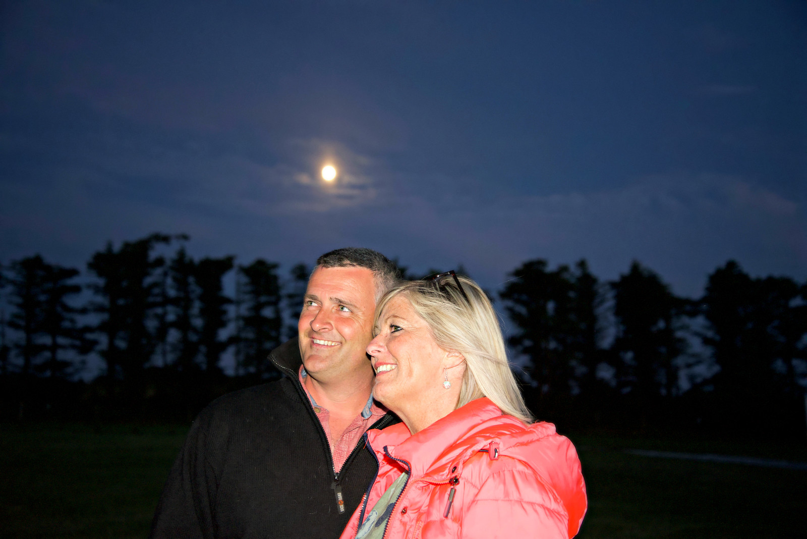 Alun and Nia Williams, owners of 'Glampio Coed Glamping'.