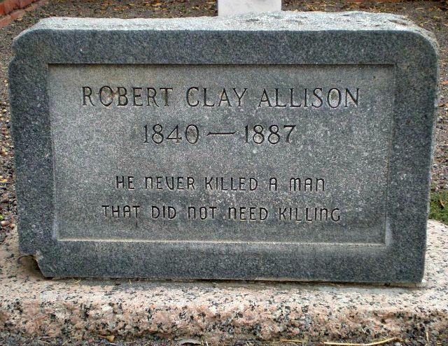 Epitaph Robert Clay Allison