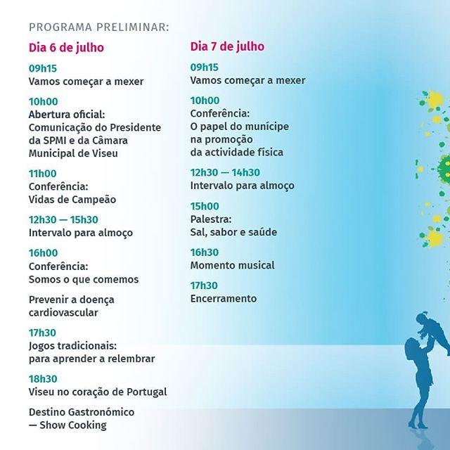 A Sociedade Portuguesa de Medicina Interna (SPMI) vai realizar nos próximos dias 6 e 7 de Julho, no Parque Urbano de Santiago, em Viseu, a sua Festa da Saúde, um evento anual dirigido a toda a população. Esta iniciativa, organizada em parceria com a @municipiodeviseu, tem como objectivo promover hábitos de vida saudável e de prevenção de doenças crónicas evitáveis. Contamos convosco!  #festadasaude #sociedadeportuguesademedicinainterna #viseu #visitviseu #medicina #saude #viseumelhorcidadeparaviver #cidadejardim #cidadedeviseu #thehouseofevents #portoandnorthofportugal #discoveringportugal #visitportugal #portugal #CantskipPortugal #cantskipportuguese #meetportugal #turismodePortugal