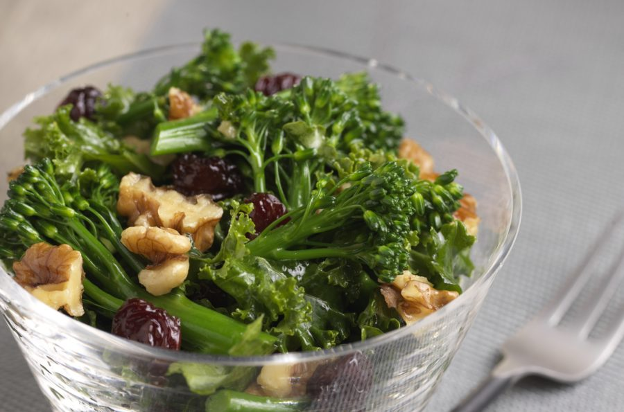 Superfood Salad:  Broccolini® & kale blend, maple vinaigrette dressing & dried sour cherries with roasted nut blend.