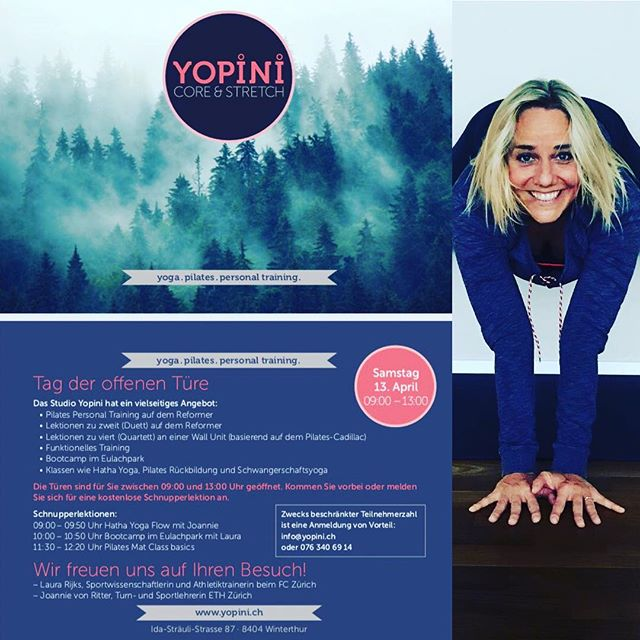 #tag der offenen türe #yopini #pilates #yoga #funktionelles training #bootcamp  #lr-coaching.ch #eulachpark #winterthur