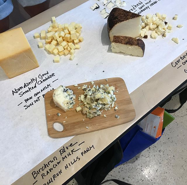 Having a great time sampling Pennsylvania cheeses at @poppysgreengrocer, A great new market in New Hope, PA selling a ton of local products