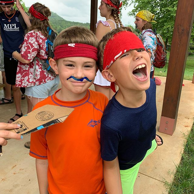 What has 8 legs, 8 arms, 8 eyes, and 8 big ole smiles?  8 campers at grace point on pirate day!!