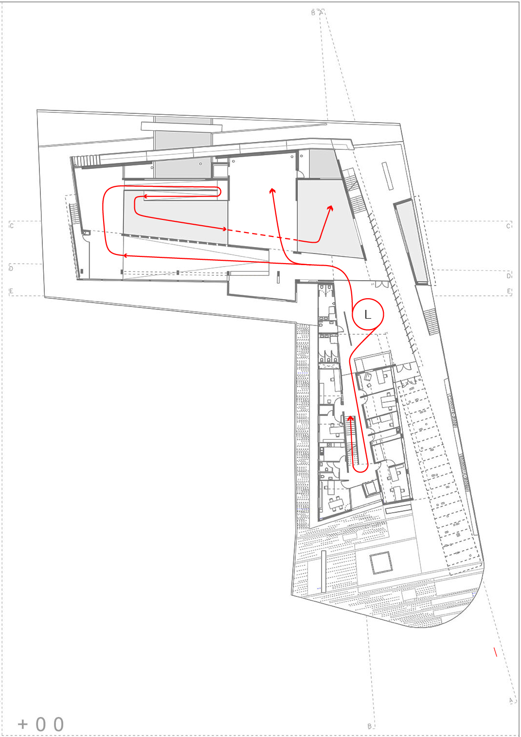 Interior circulation - flow between programmes