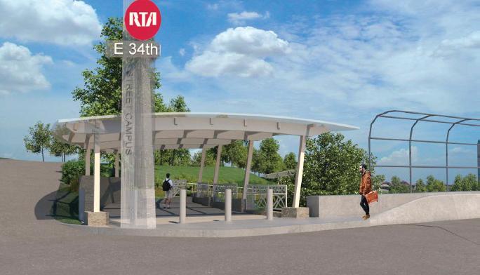East 34th St. RTA Rapid Transit Station