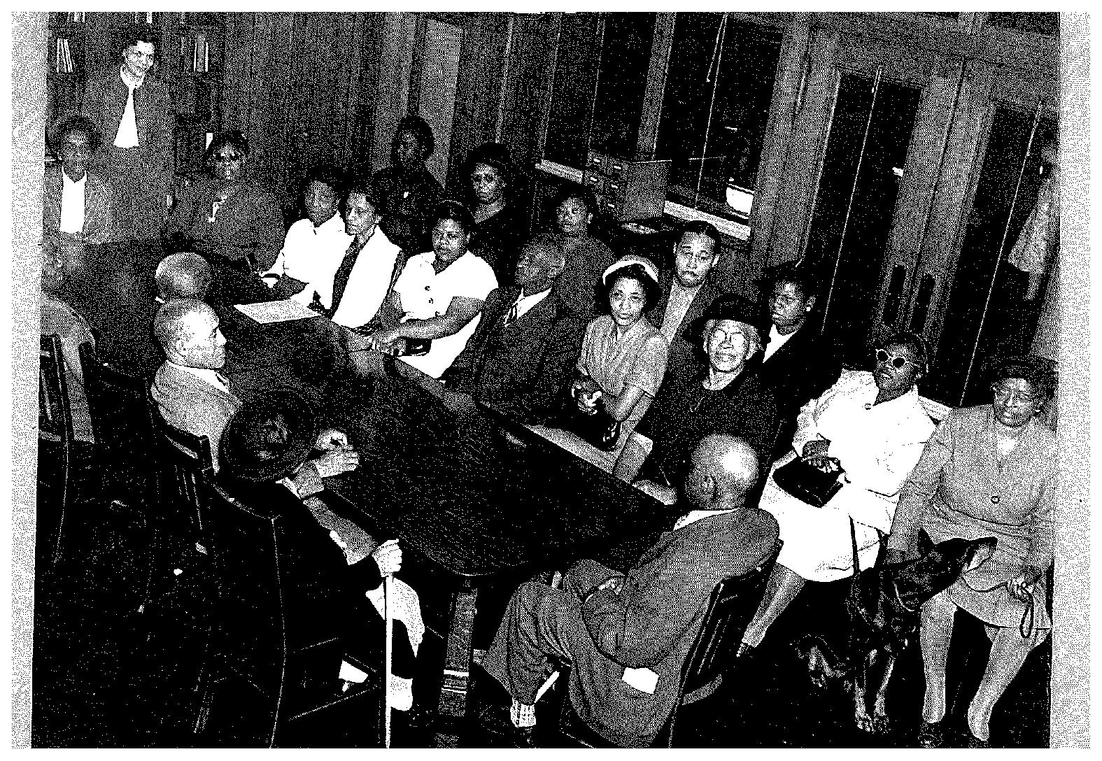 Society of the Blind Book Club 1952 (courtesy of Sterling Library)