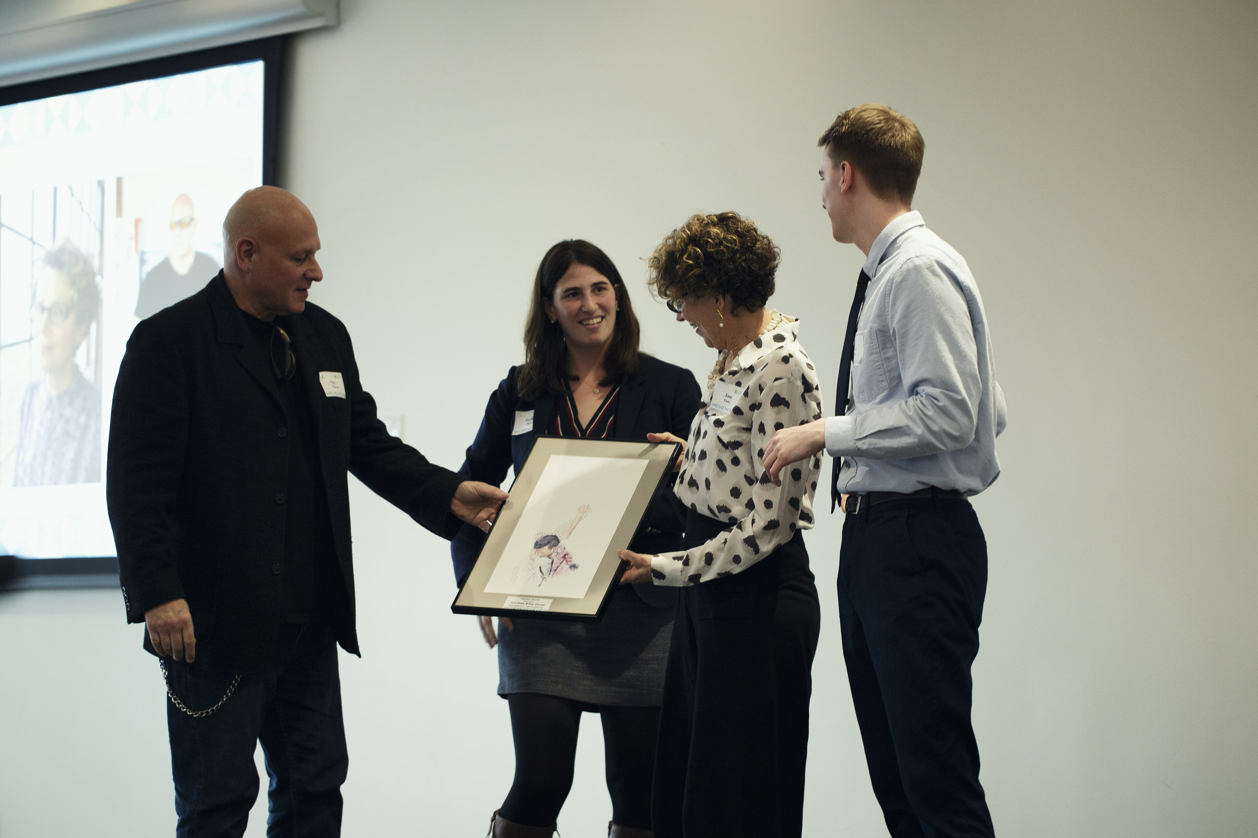Guy-Vincent and Jane Finley accepting the Volunteer Award.