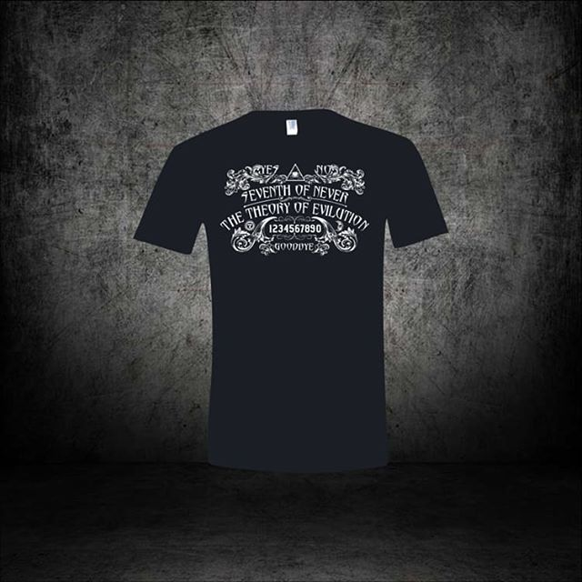 Have you seen the swag?! Shirts for guys and gals. Several cool styles available.  Oh, and CDs. Real, hold em in your hands, play em in the car CDs.  www.seventhofneverband.com  And, the proceeds will help us record the next CD.  #localmusic #metal #rock #progressive #swag #cd #music #supportlocal #stl