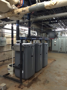 New Units - With the installation of a state-of-the-art S.U.N. Equinox water heating system Pipetechs is hoping to save Greensboro Coliseum up to 60% in their natural gas consumption.
