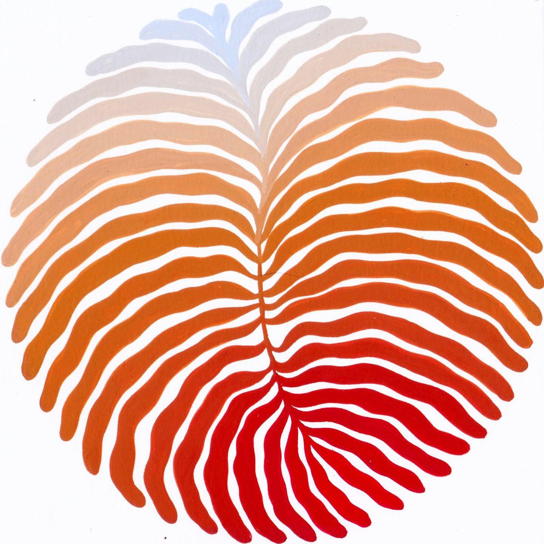 "Seaweed, - 2019gouache on paperH. 6"" x W. 6"";H. 8"" x W. 8"" frame"