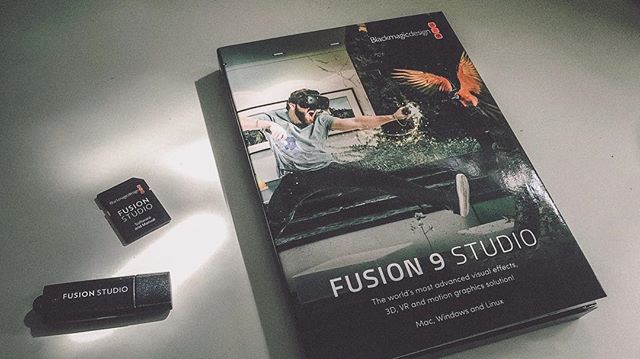 Look at what just came through the mailbox! @blackmagicnewsofficial . . #blackmagic #fusion #fusion2017 #fusion9 #blackmagicdesign #compositing #vfx #3d #cg #greenscreen #motiontracking #digitalcinema