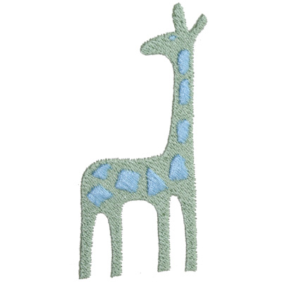 6. Giraffe (Green/Baby Blue)