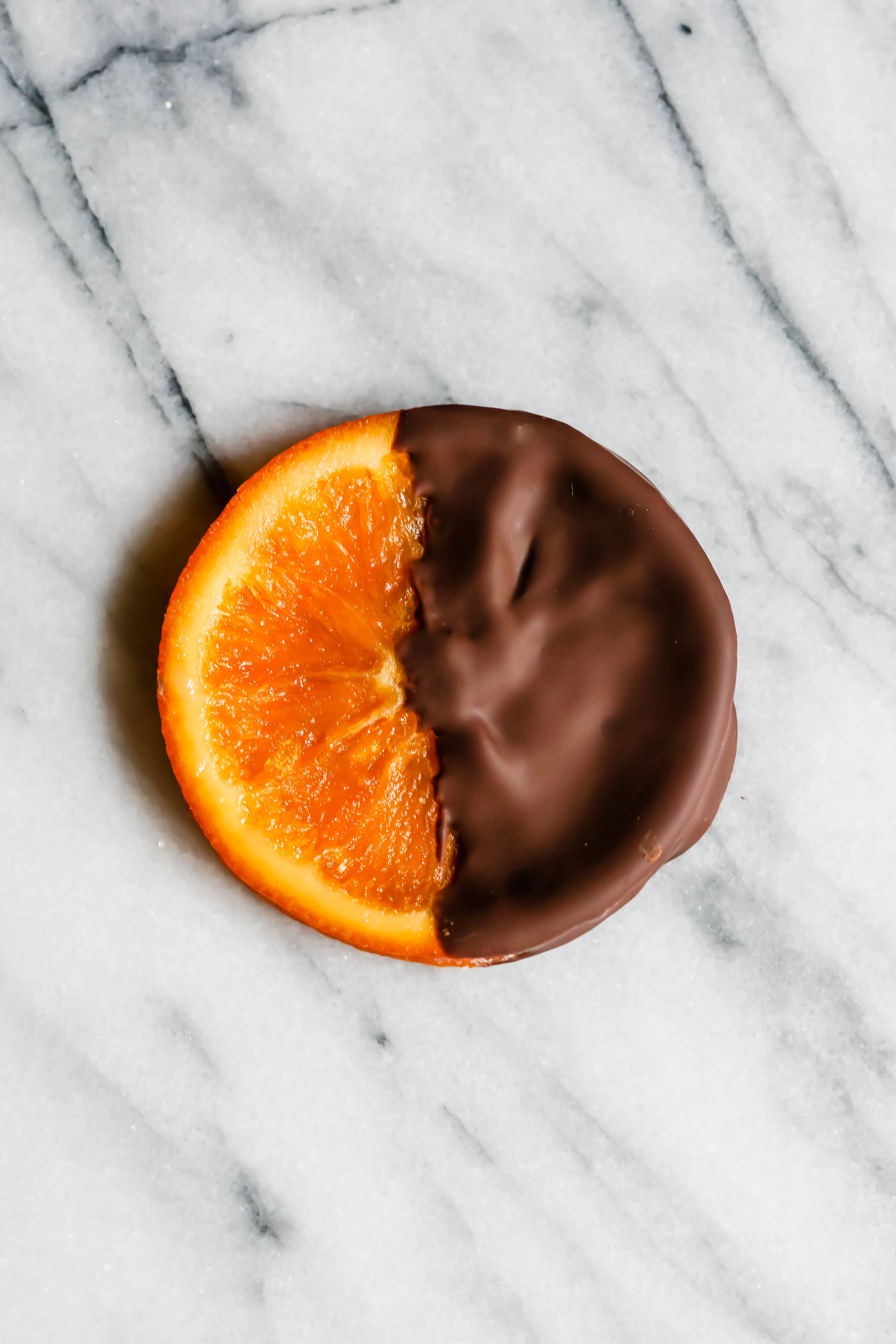 Chocolate Dipped Candied Oranges