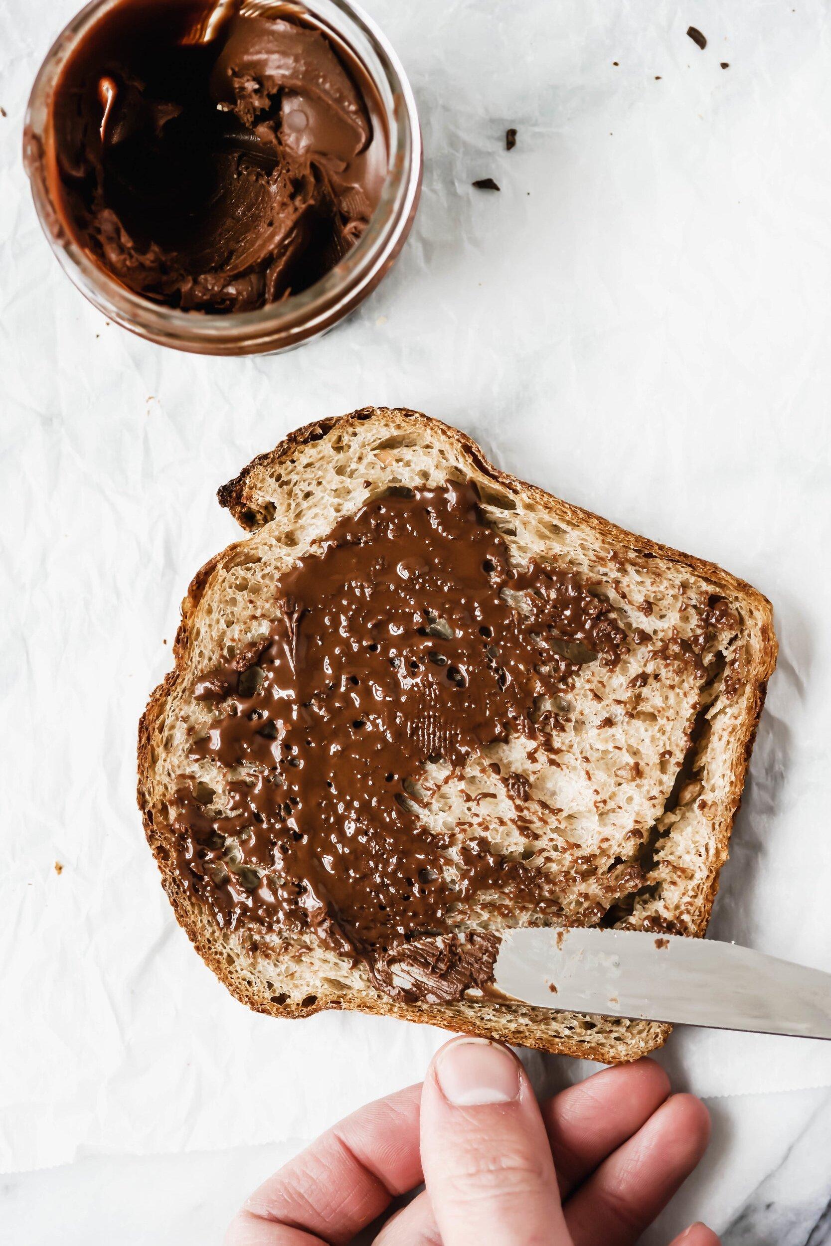 Easy Dark Chocolate Hazelnut Spread