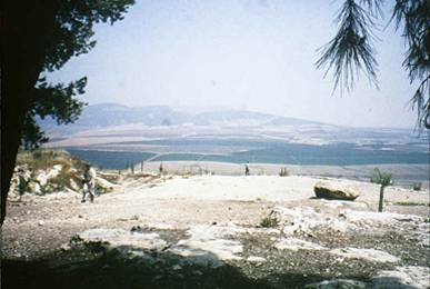Biblical Shunem where Elisha performed the resurrection of the Shunamite Woman's dead son.