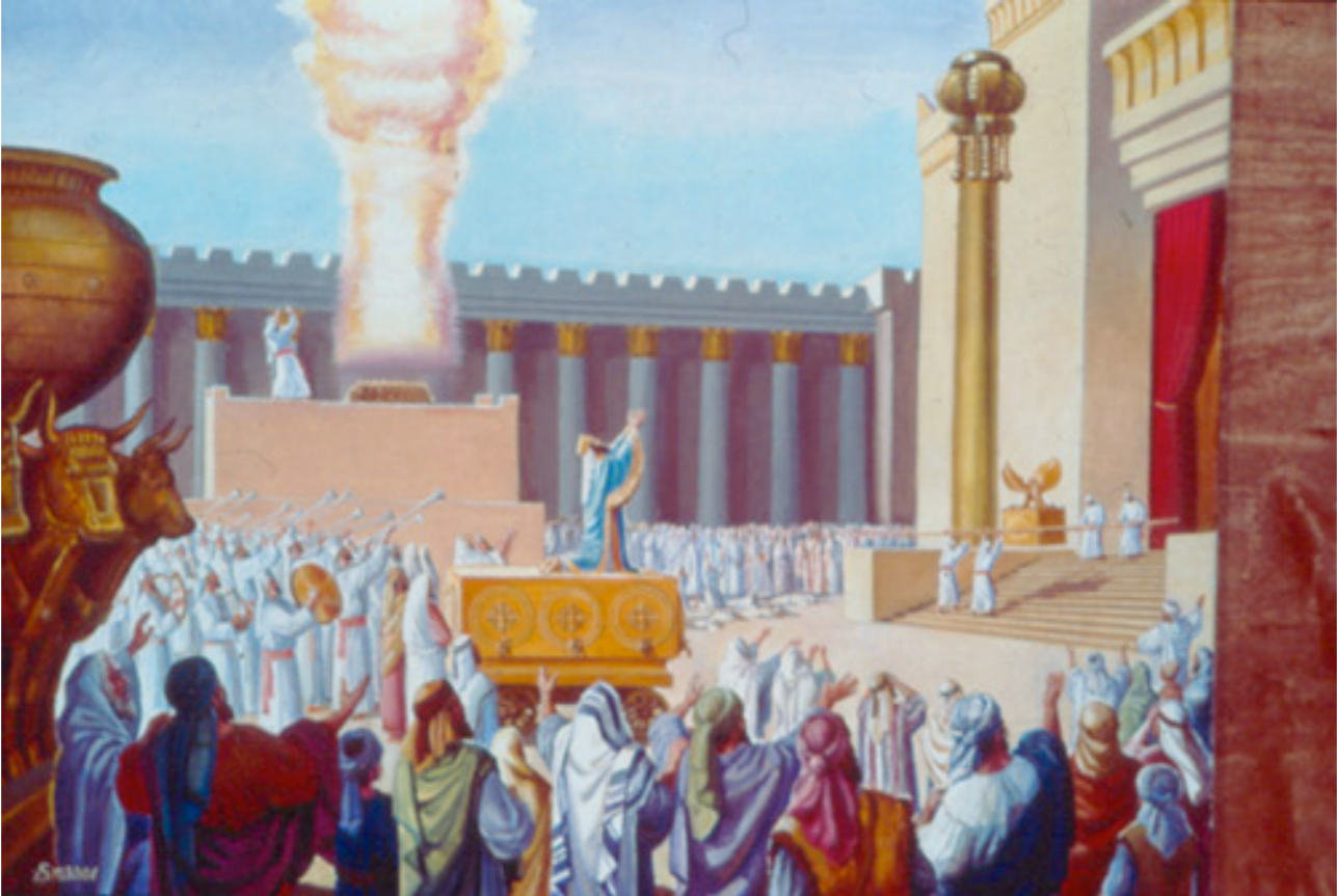 King Solomon Dedicating the Holy Temple  Drawing: The Temple Institute