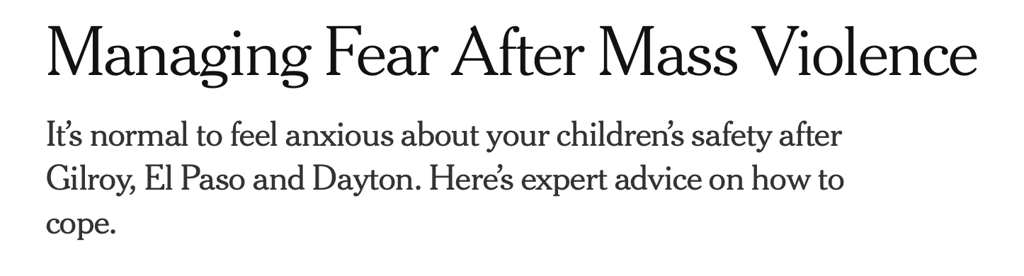 From the New York Times Online Edition, August 8, 2019