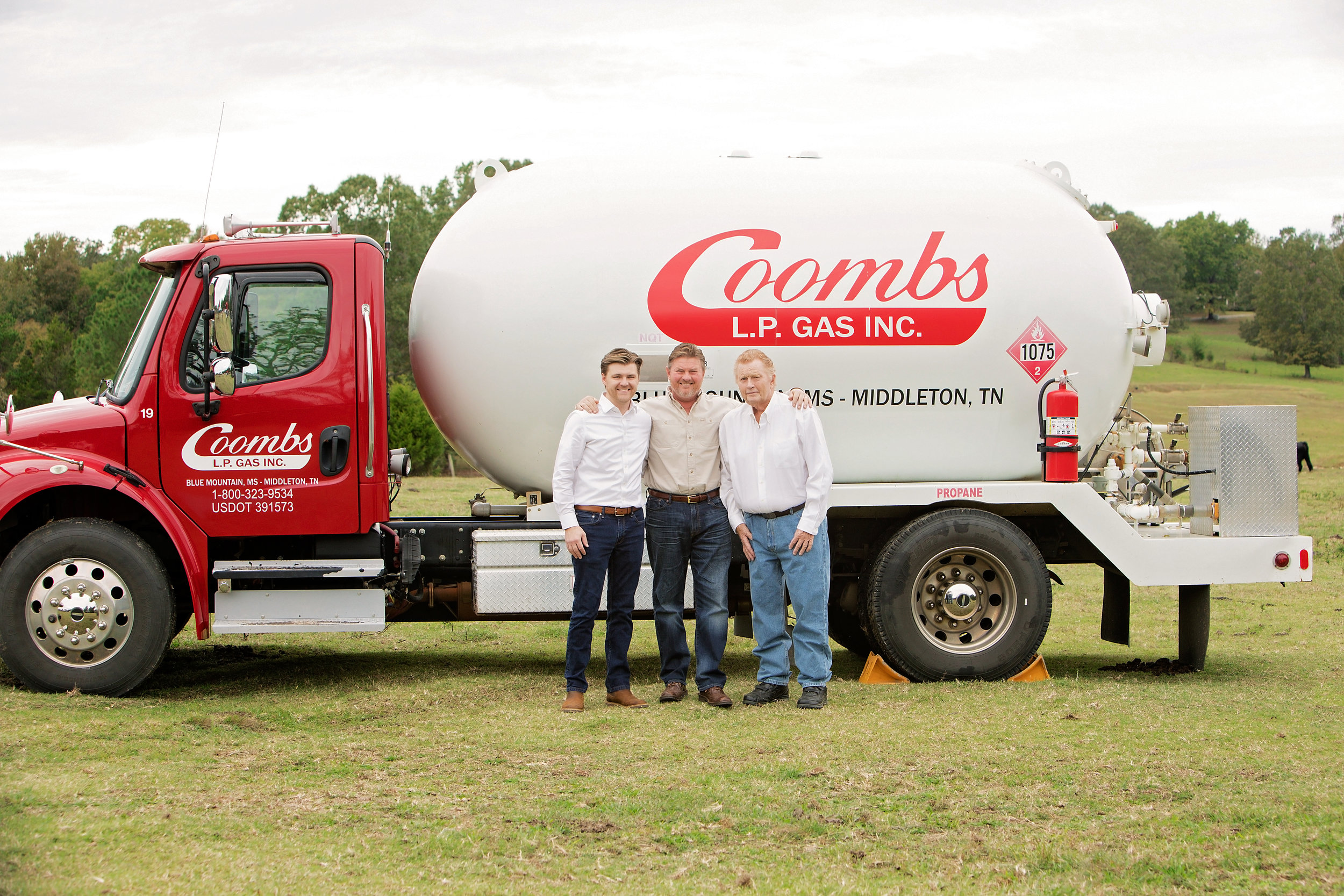 A Family Tradition - Coombs Gas has been providing propane gas to our customers since 1969. Family-owned and operated, we've proudly served customers in Mississippi and Tennessee for four generations.Learn More