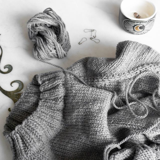 "(I'm still knitting)⠀ .⠀ .⠀ .⠀ I want to be posting more on here but I really just don't have the extra energy to put into taking photos.  I'm going to try to start dedicating Saturday mornings to knitting photos like I used to during the winter.  The ""take photos when I remember"" thing isn't working out too well.⠀ .⠀ .⠀ .⠀ ⠀ #knitwear #knitting #knittweardesign #designersofravelry #designersofig #knitstagram #knitspo #knittingindc #knitspo #ravelry #ourmakerlife #yarn #yarninspo #yarnaddiction #naturallydyedyarn #knittersoftheworld #dcknitters #dcknits #lykkeneedles #magicloop #yarnpunk #thehooknookers#instaknit #instaknitters #instaknitting #nevernotknitting #knitters #handknit #knittingaddict ⠀"