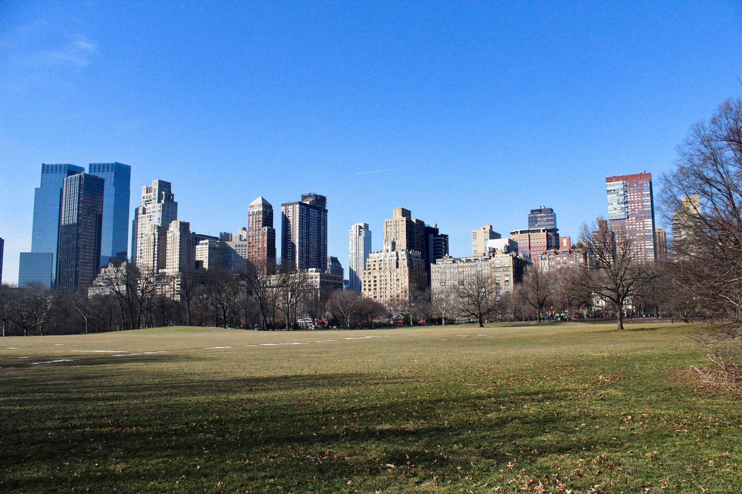 Central Park West over Sheep Meadow