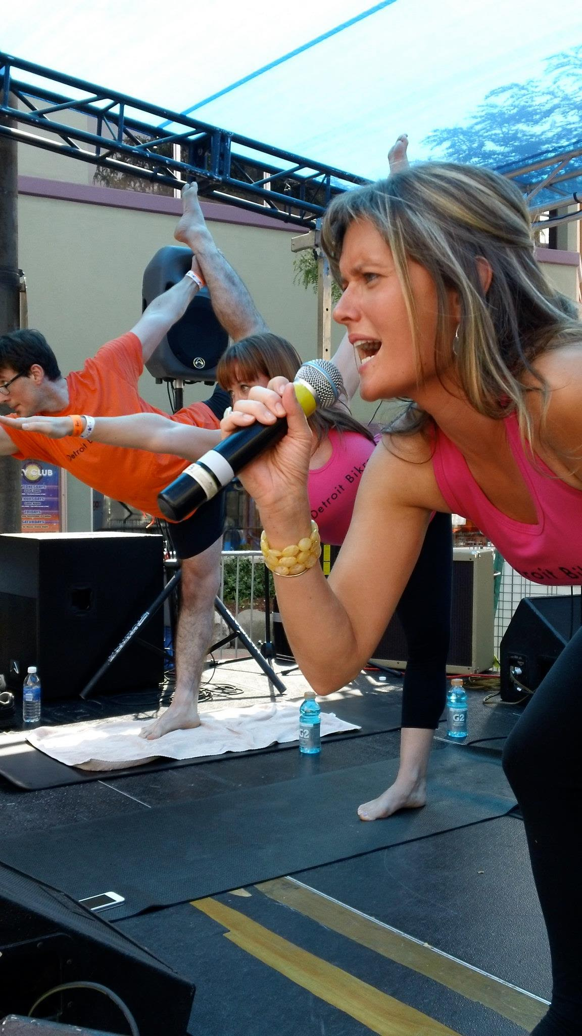 Thrive studio owner Jenny O'Laughlin will lead the one hour hot yoga style class. -