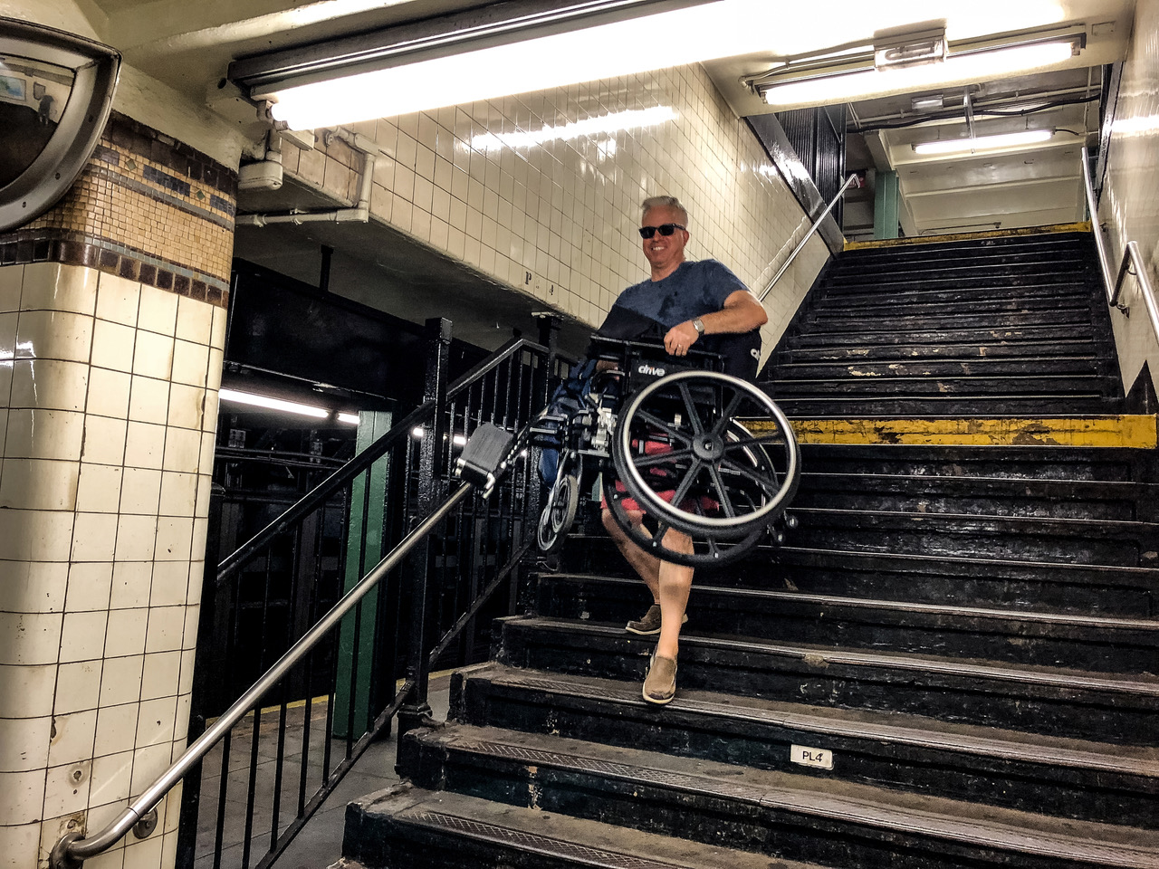 Now I can carry Michael's wheelchair down the subway stairs no sweat!