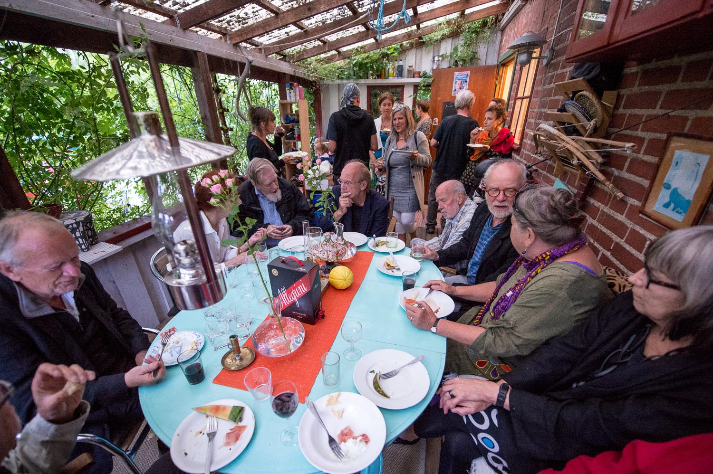 Vernissagefest hos Åsa och Patrik