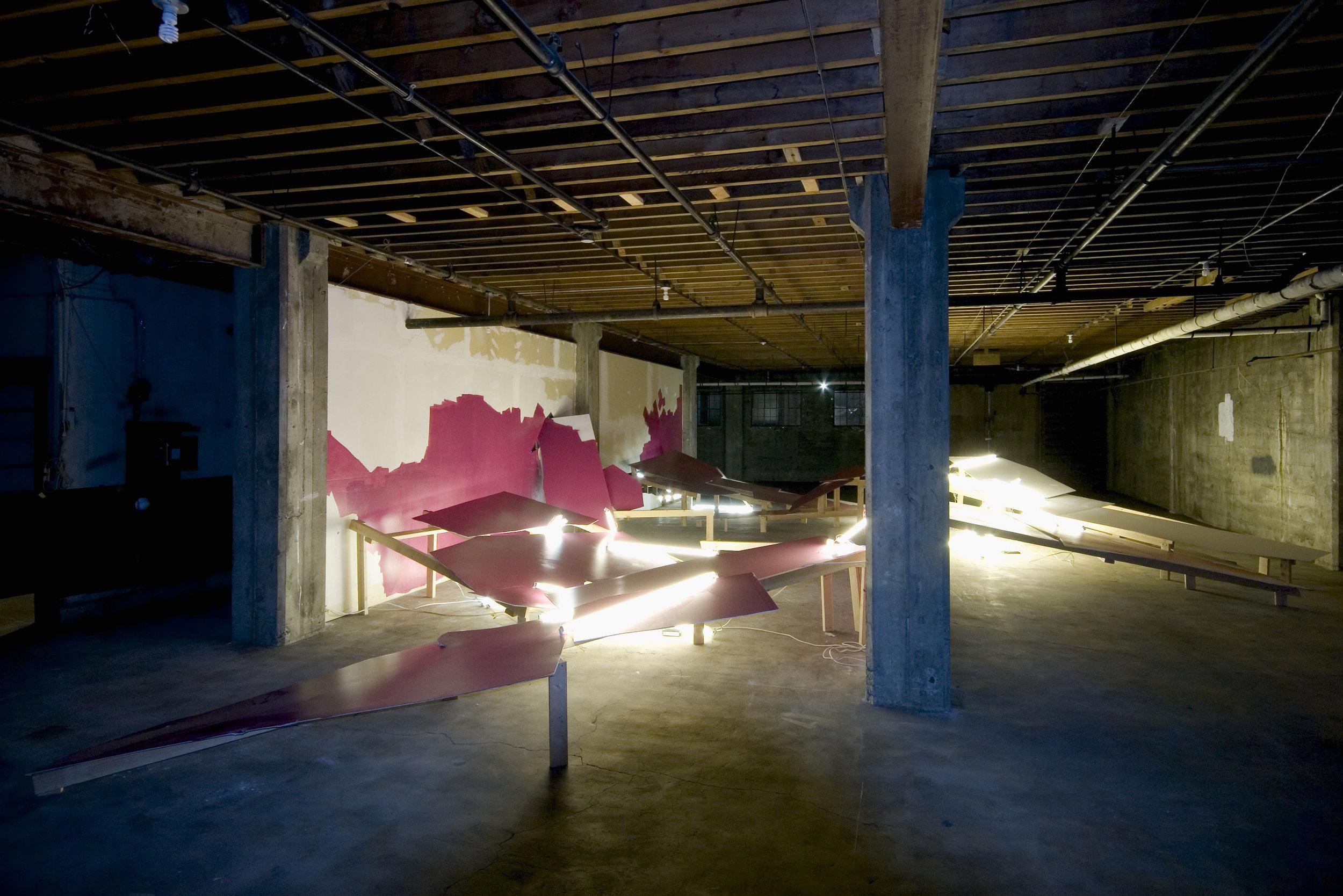 Jenene Nagy Installation   Destroyer exhibited at the Templeton Building