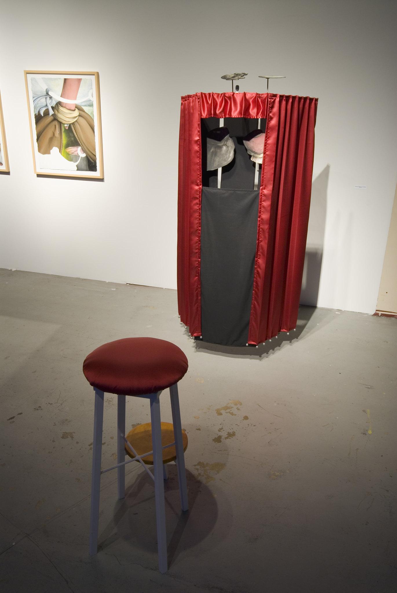 David Eckard Installation   Mountebank (A Moral Decline) exhibited at the Templeton Building