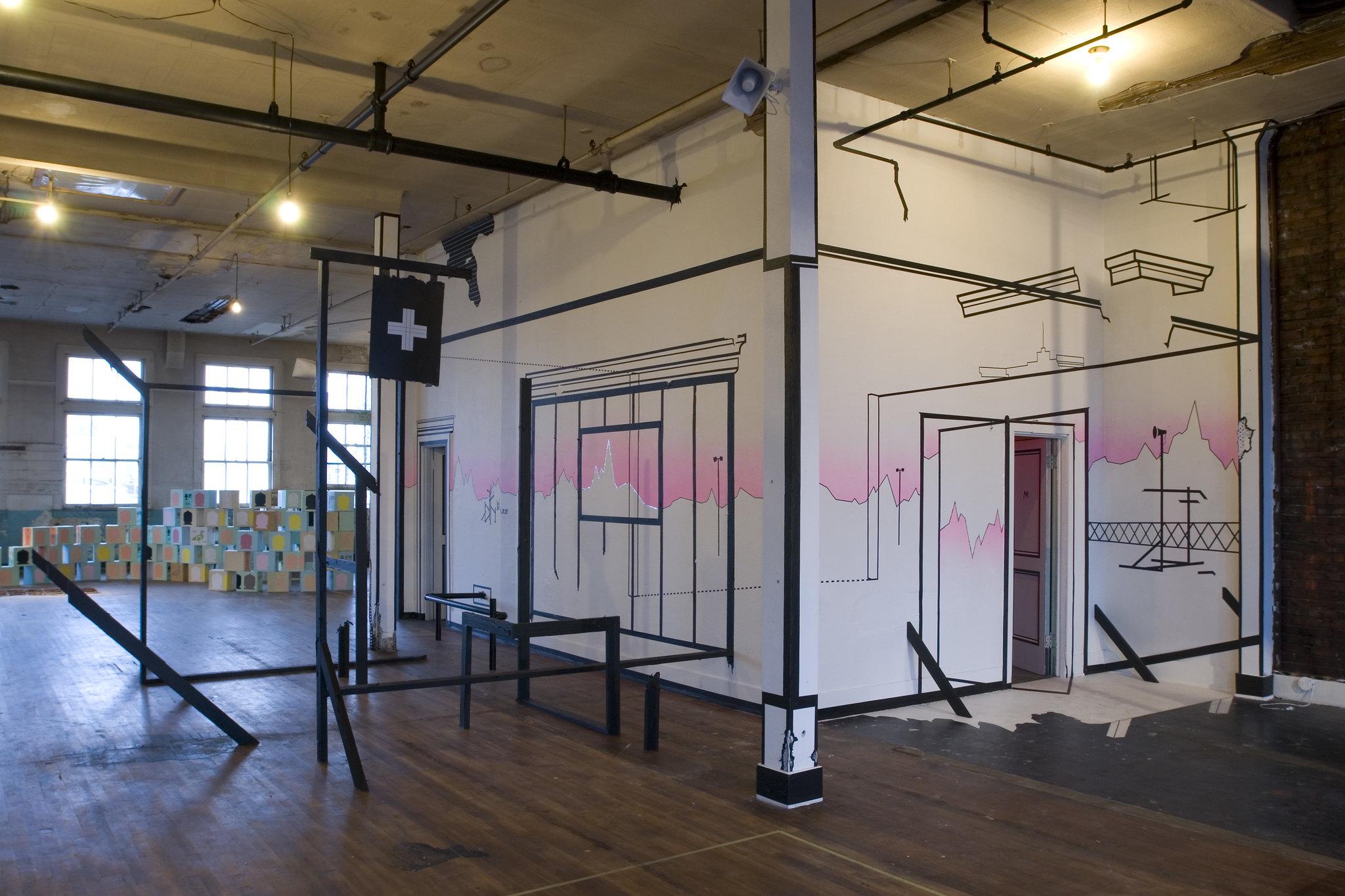 Damien Gilley Installation   Zero-Sum exhibited at the Templeton Building