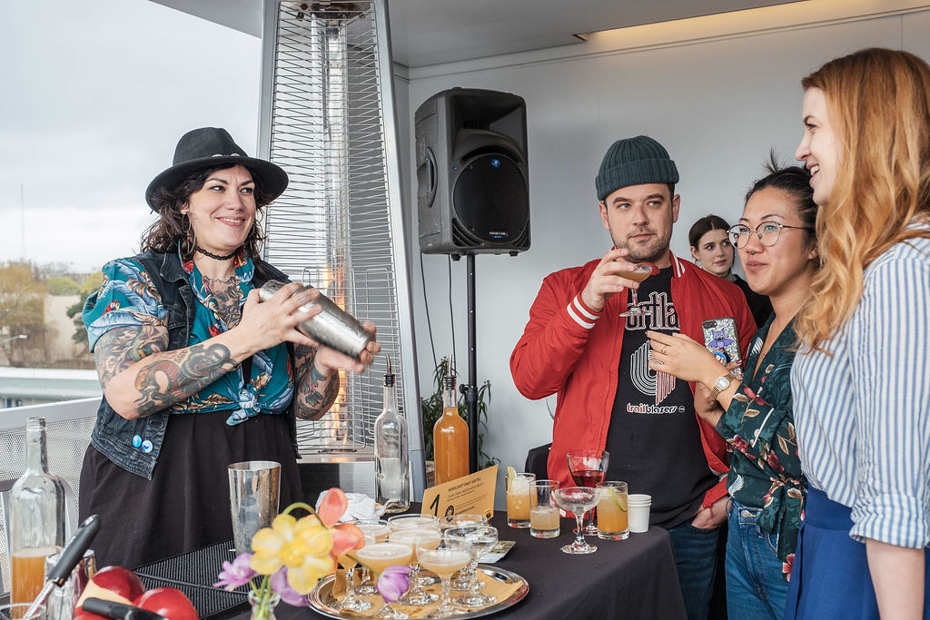 Mixologist Emily Mistell of Hey Love, paired with Visual Artist Alyson Provax and Sound Artist Marcus Fisher