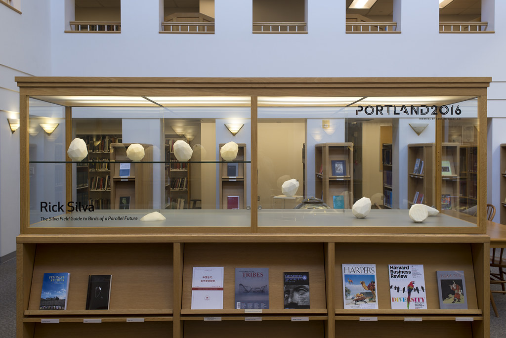 Rick Silva  exhibited at Cooley Gallery Case Works Program, Reed College Library, Portland