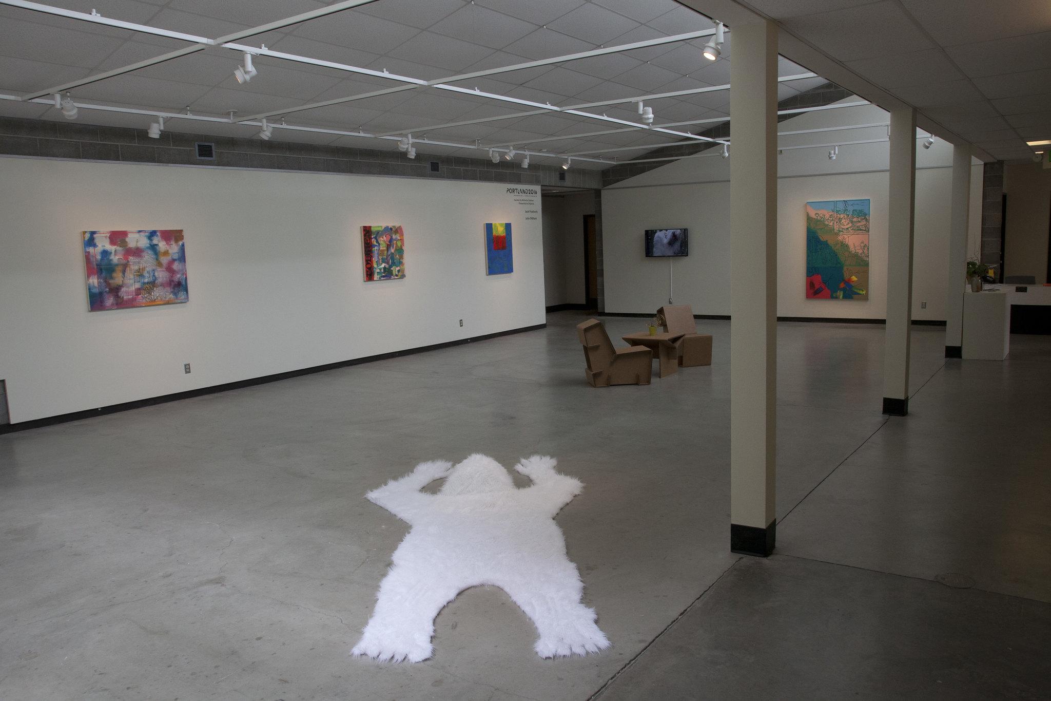 Installation at the Royal Nebeker Art Gallery, Clatsop Community College, Astoria