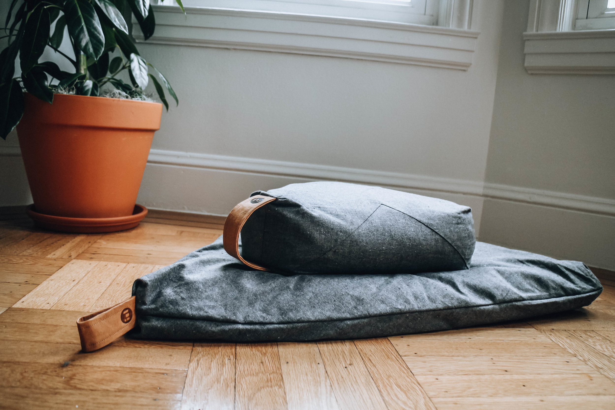 Organic and sustainable meditation cushions from  Project Full .
