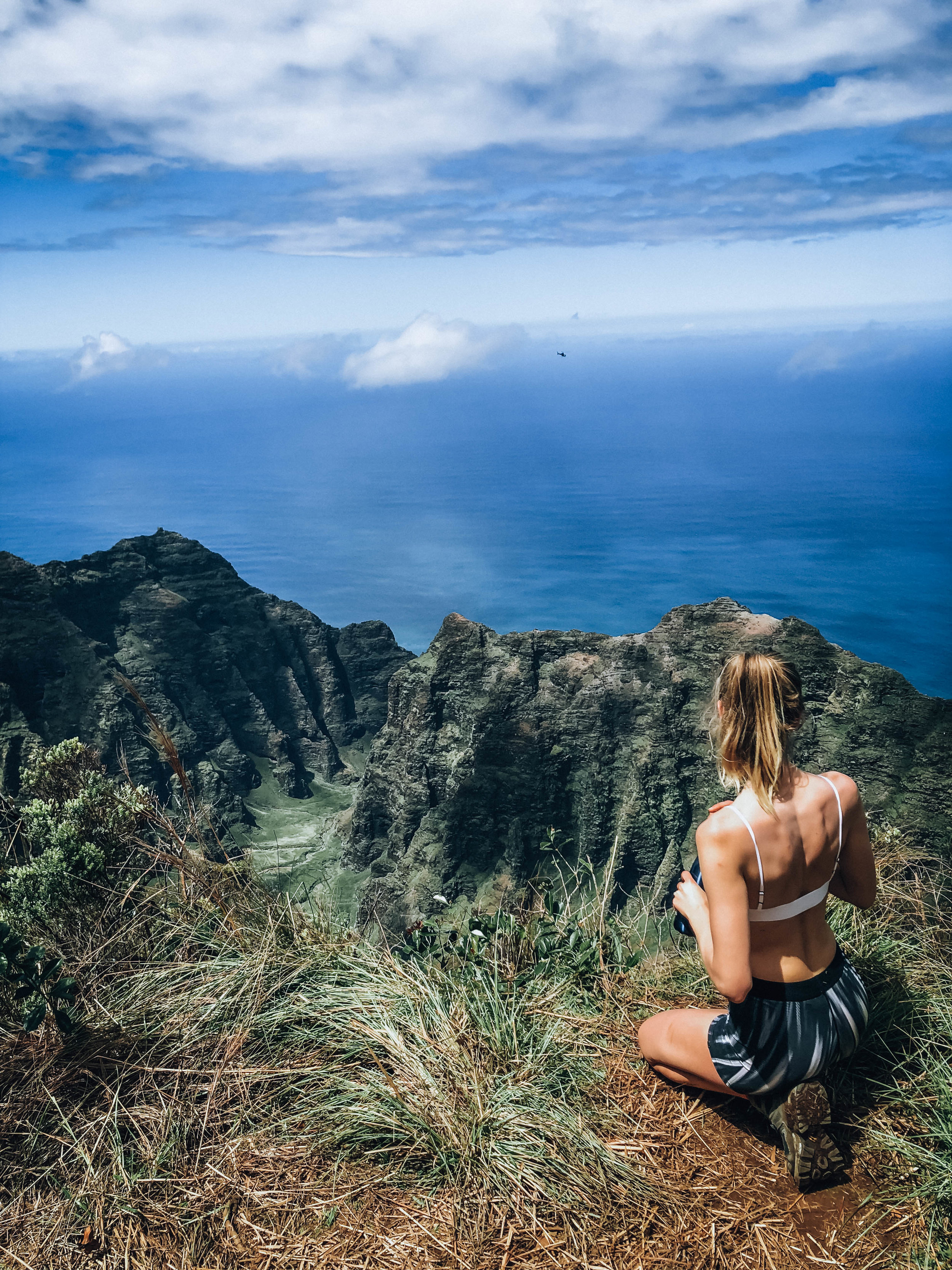 View from the Awaawapuhi Trail on the Na Pali Coast