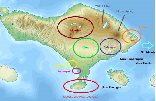 Map of Bali