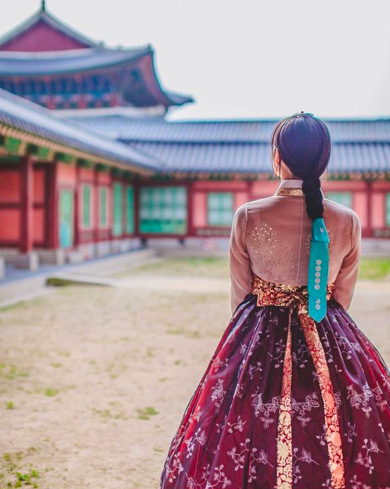 Traditional Hanbok attire