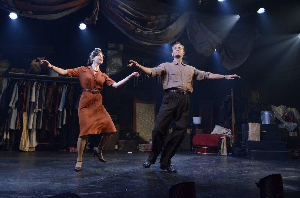 A dance duel. (Deirdre Donovan as Molly, Danny Gardner as Toes).