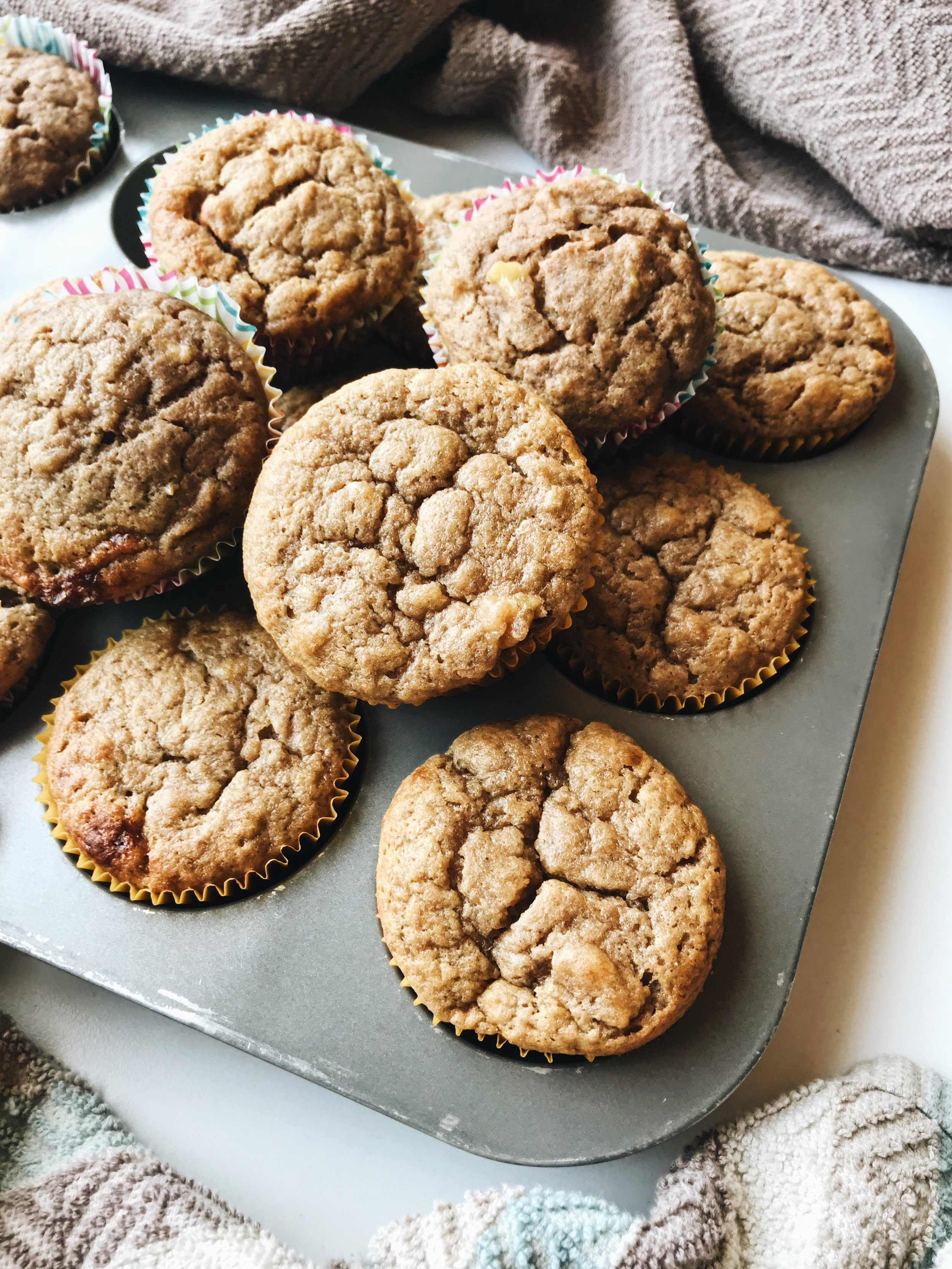 Sprouted Banana Bread Muffins