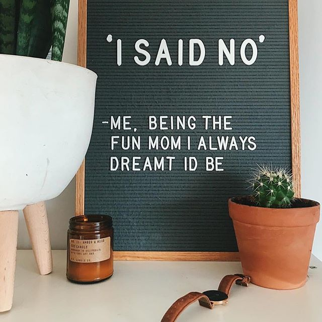 Just reposting @daniellerbevens because my mom sent it to me and I can relate too well to this. 😂 I also dreamed that my kids would have brushed hair and daily baths. Funny, I never thought that would be shooting too high. #iwaswrong 🤣🤷🏼♀️ #letterfolk #letterboard
