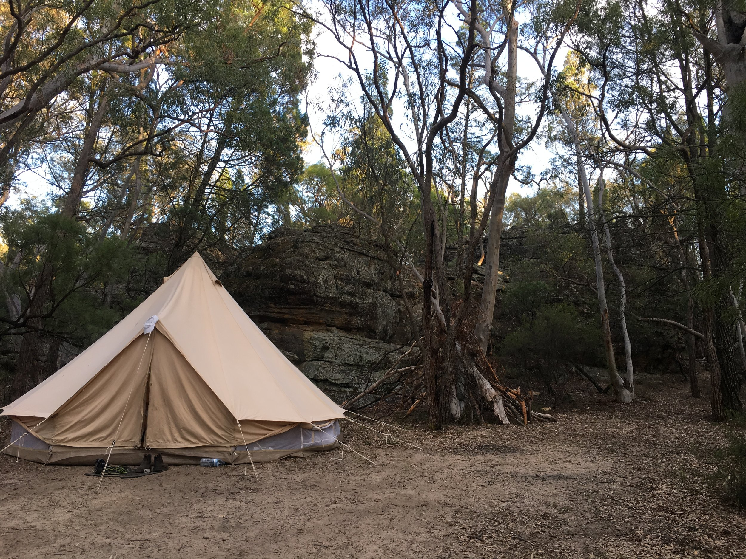 Camping in style at our recent Aboriginal cultural Meditation retreat weekend.