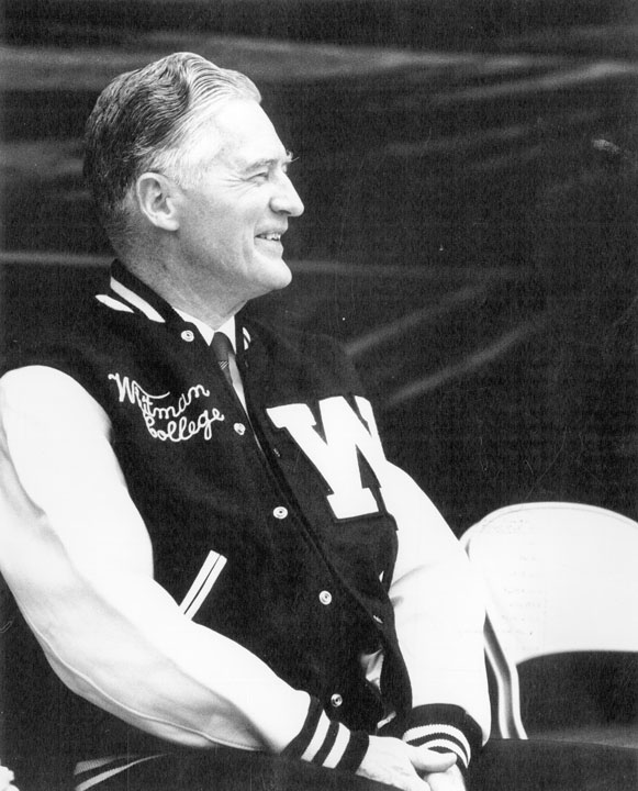 Whitman College Class of '22 - Donald Sherwood was presented with the varsity athletic jacket at the 1969 dedication of the Sherwood Center athletic facility.