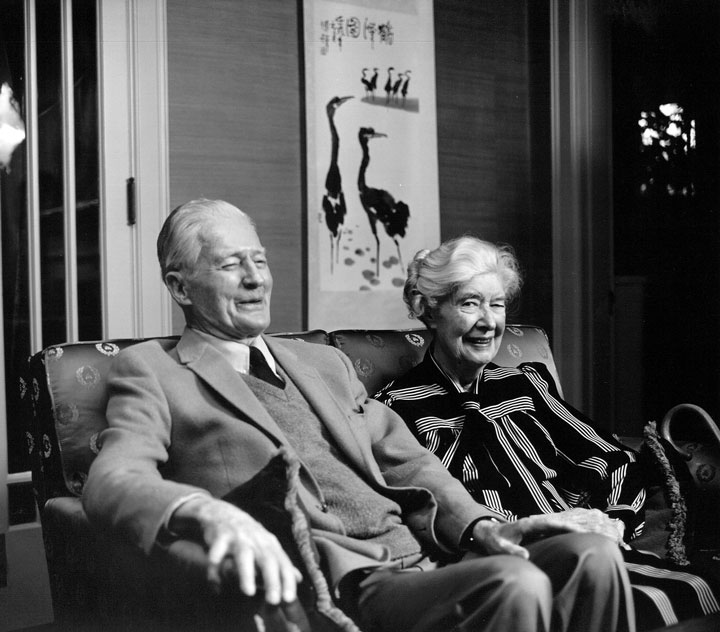 At home inWalla Walla - Donald and Virginia Sherwood at their home on Alvarado Terrace.