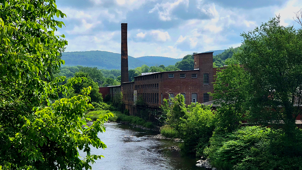 Eagle Mill building and Housatonic River photo